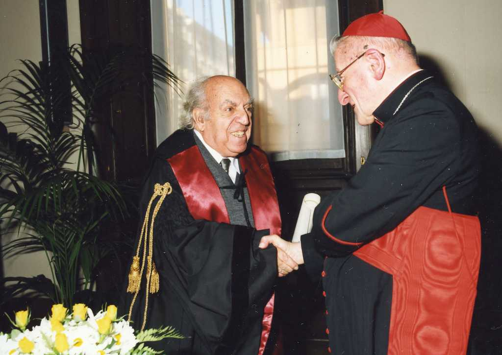 Dr. Palol investidura doctor honoris causa de l'Institut Pontifici d'Arqueologia Cristiana de Roma