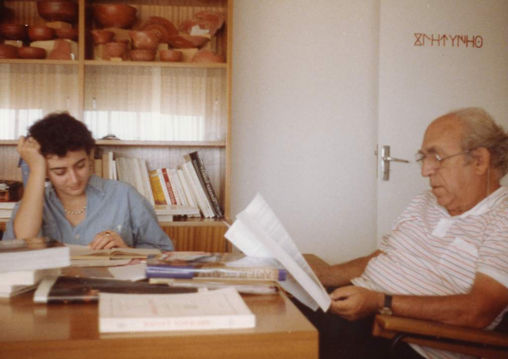Pere de Palol al Seminari d'Arqueologia de la Universitat de Barcelona