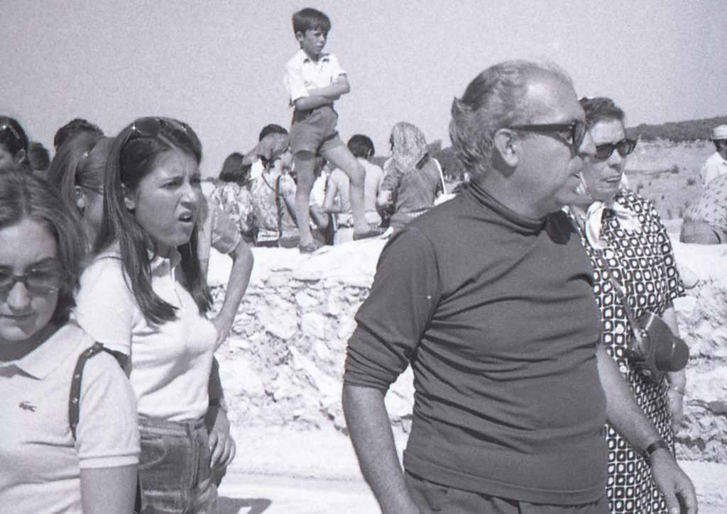 Visita del Dr. Palol al jaciment de La Olmeda